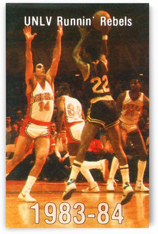 1983 UNLV Runnin Rebels Basketball Poster by Row One Brand