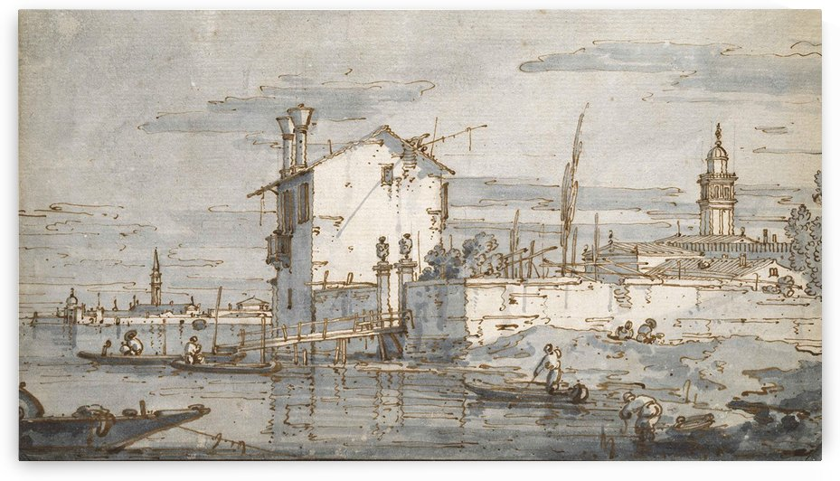 An Island in the Lagoon by Canaletto