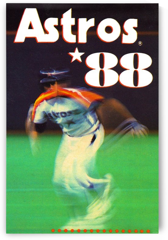 1988 houston astros poster reproduction art by Row One Brand