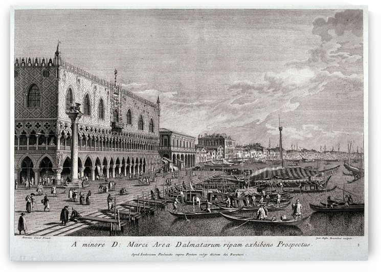 View of the Bank Facing the Ducal Palace by Canaletto