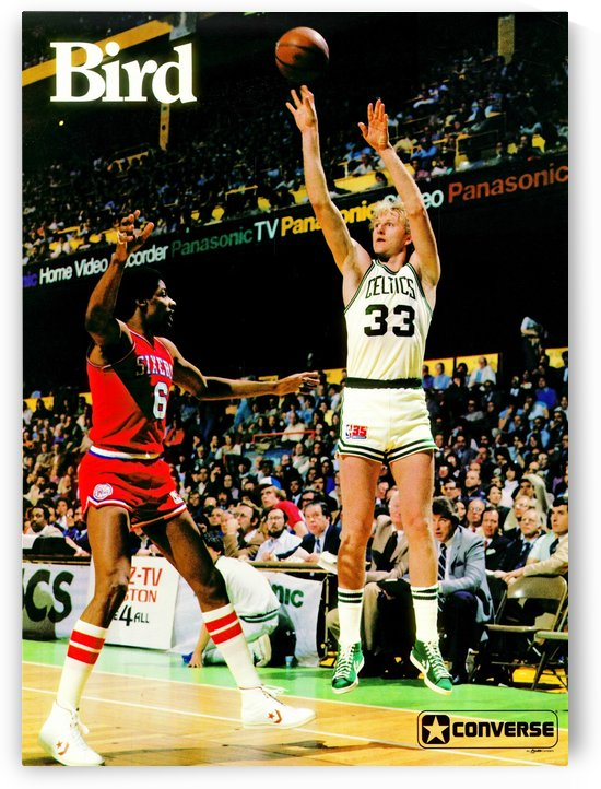 1981 Boston Celtics Larry Bird Converse Poster  by Row One Brand