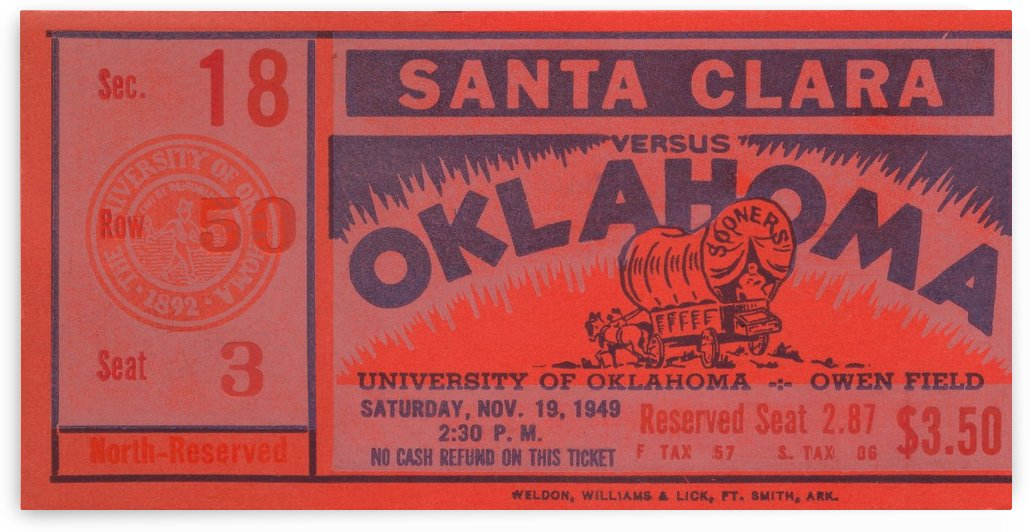 1949 oklahoma sooners bud wilkinson undefeated sooner team by Row One Brand