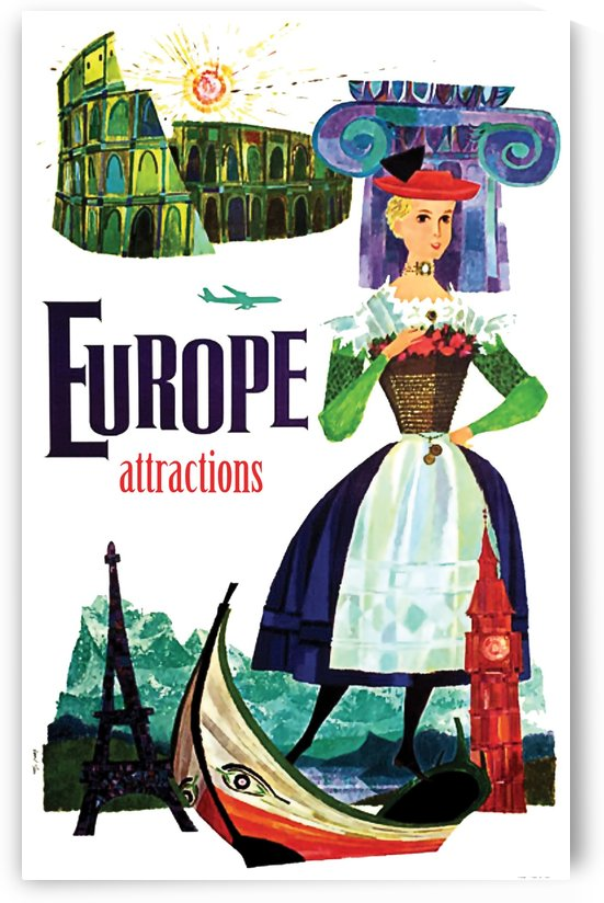 Europe Attractions by vintagesupreme