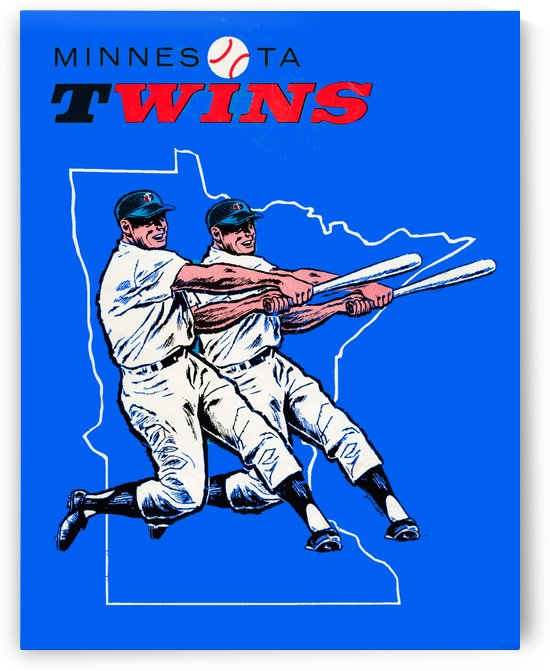 vintage minnesota twins baseball poster by Row One Brand