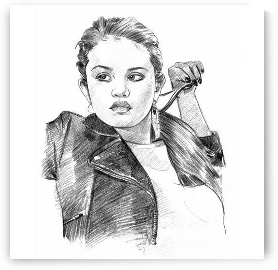 Selena Gomez - Celebrity Pencil Art by Art Lover