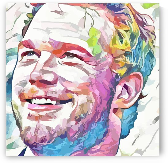Chris Pratt - Celebrity Abstract Art by Art Lover