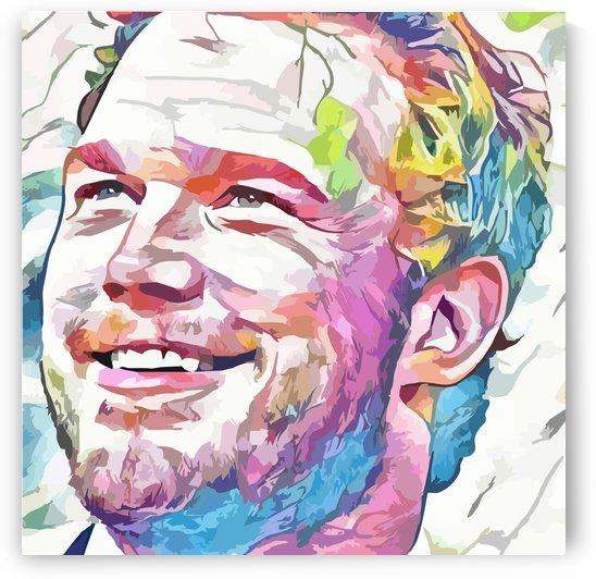 Chris Pratt - Celebrity Abstract Art by Art Lover