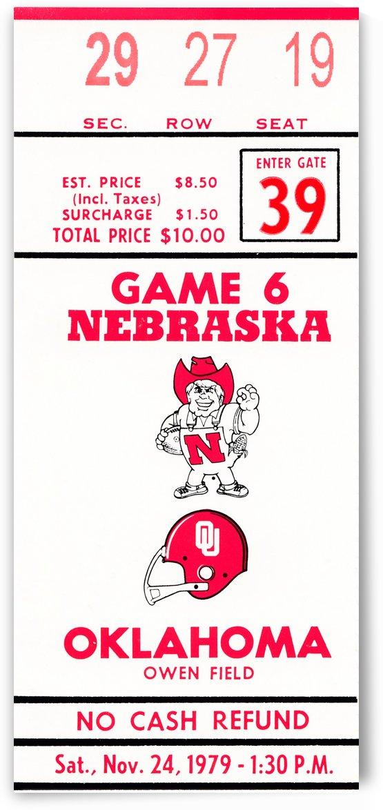 1979 oklahoma sooners football ticket art by Row One Brand