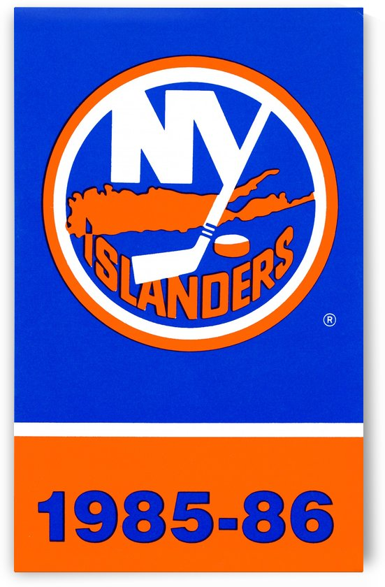 1985 new york islanders poster by Row One Brand