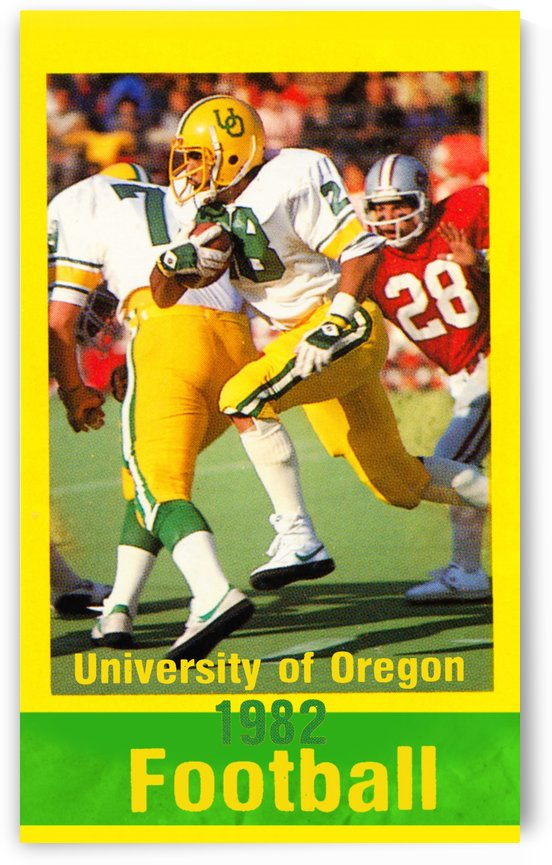 1982 Oregon Ducks by Row One Brand