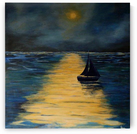 Midnight seascape by Iulia Paun ART Gallery