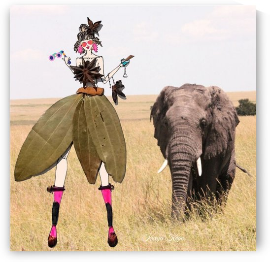 Ciara with the baby elephant in Africa - Spice Couture by Kavya Kapa