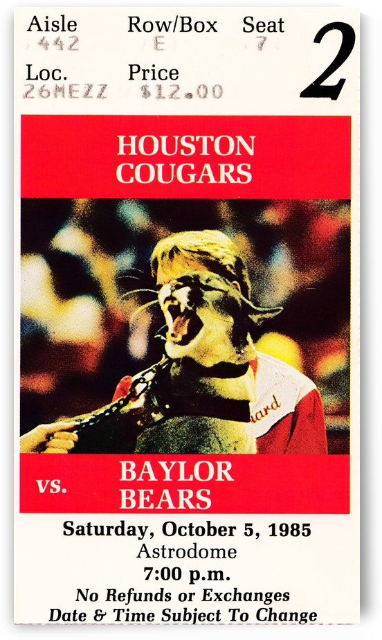 1985 houston cougars football by Row One Brand