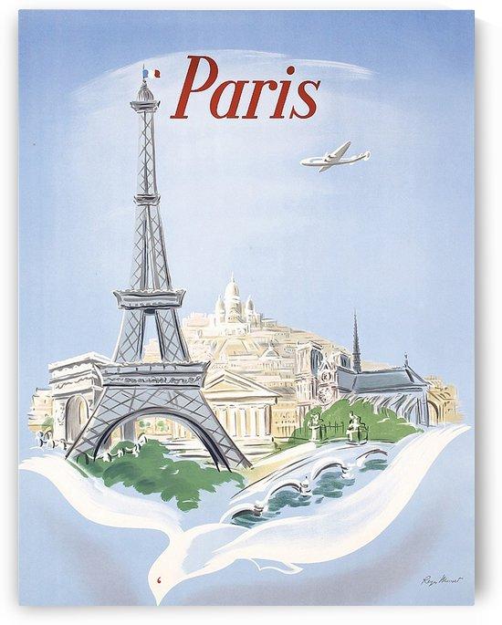 Flying to Paris by vintagesupreme
