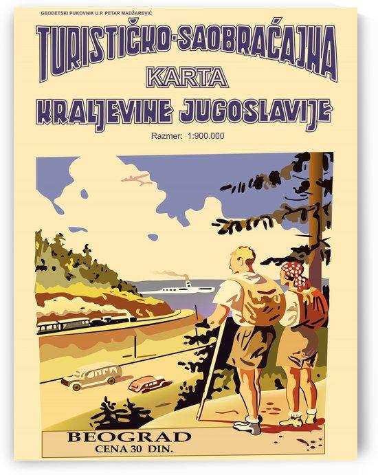 Tourist Map of Yugoslavia by vintagesupreme