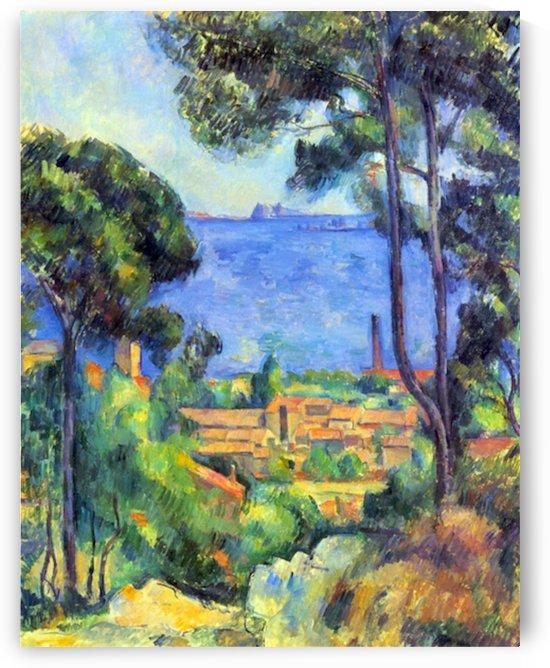 Land scape by Cezanne by Cezanne