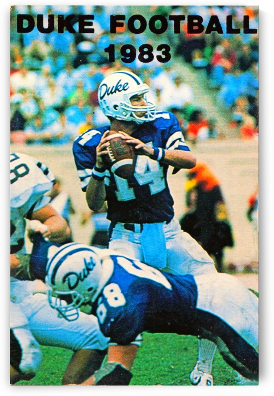 1983 duke football by Row One Brand