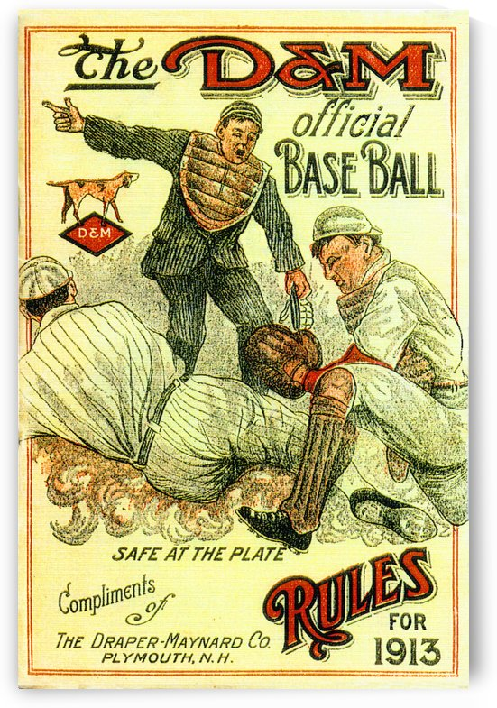 1913 The D&M Official Baseball Rules Book (1) by Row One Brand