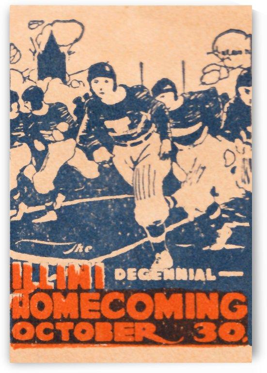 1920 illinois illini football homecoming art by Row One Brand