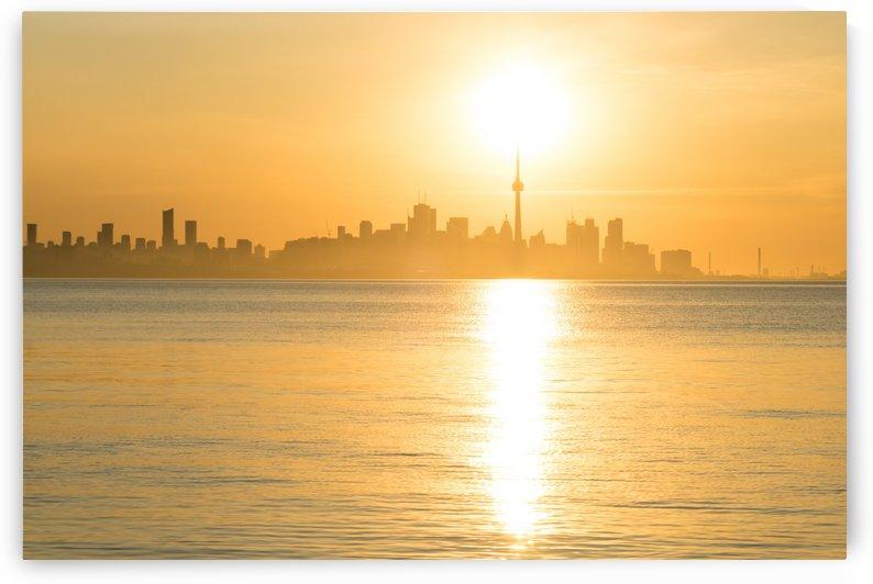 Holding Up the Sun - Toronto Sunrise in Brilliant Gold by GeorgiaM