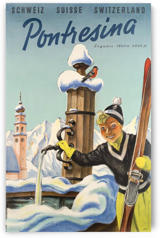 Skiing in Pontresina by vintagesupreme