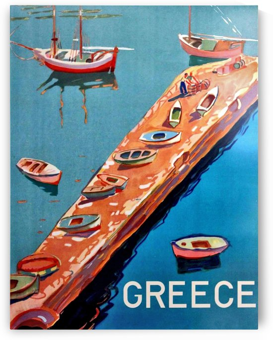 Fishing Boats on Greece by vintagesupreme