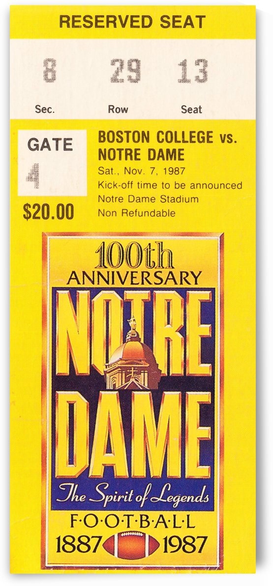 1987 notre dame football by Row One Brand