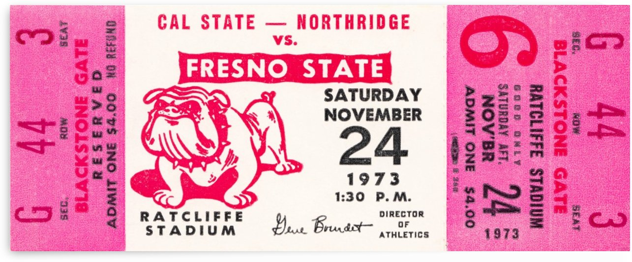 1973 cal state northridge fresno state bulldogs by Row One Brand