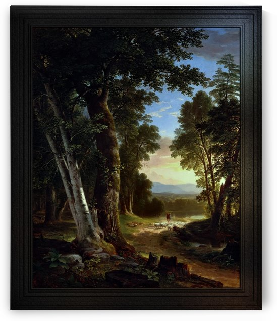 The Beeches by Brown Durand Classical Landscape Reproduction by xzendor7