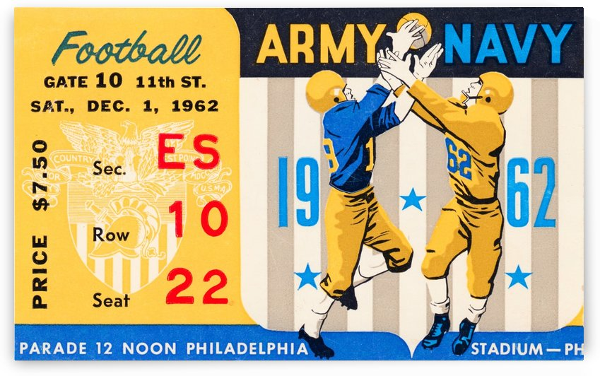 1962_Vintage College Football_Army vs. Navy_Municipal Stadium_ by Row One Brand