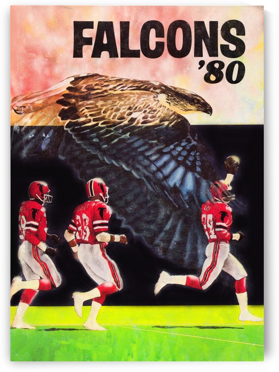1980 retro nfl atlanta falcons poster by Row One Brand