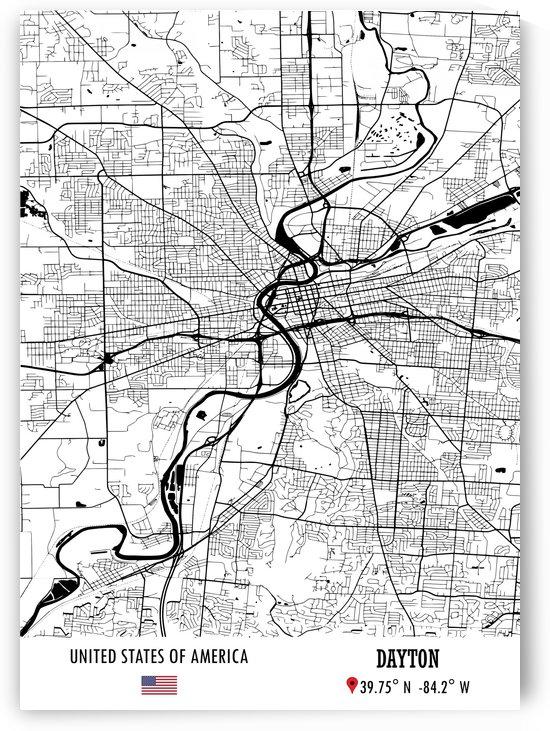 Dayton USA Map by Artistic Paradigms