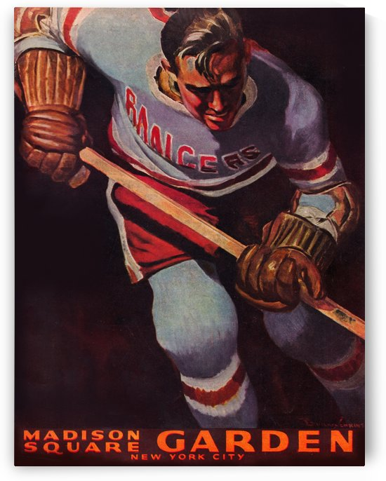 1950 Madison Square Garden Hockey by Row One Brand
