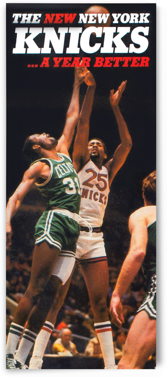 1980 new york knicks poster bill cartwright cedric maxwell by Row One Brand