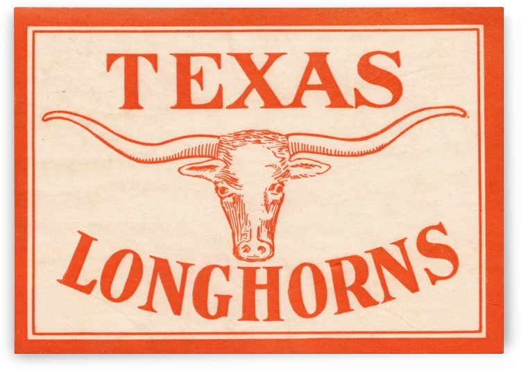 Texas Longhorns Art by Row One Brand