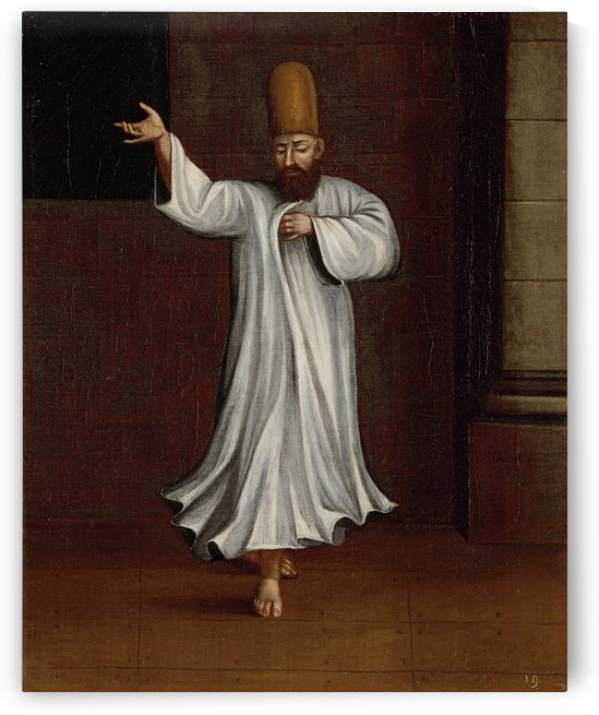 Whirling Dervish by Jean Baptiste Vanmour