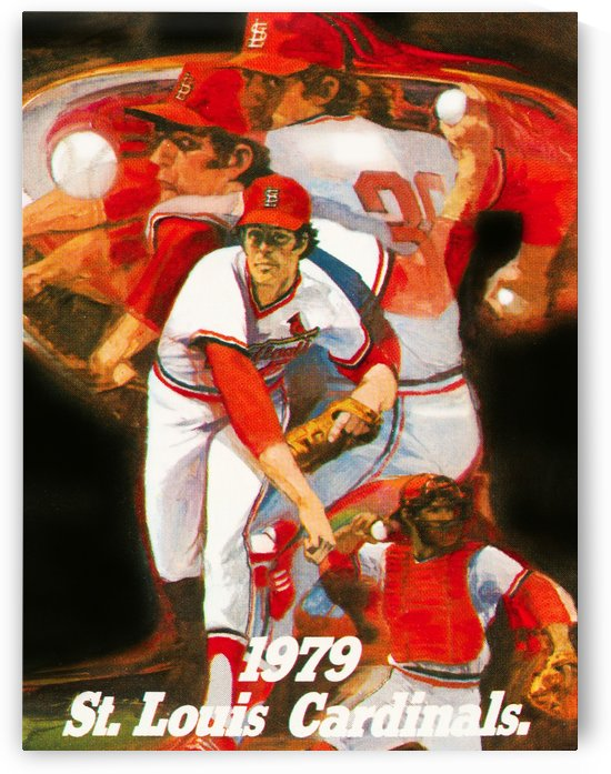 1979 st louis cardinals retro baseball poster by Row One Brand