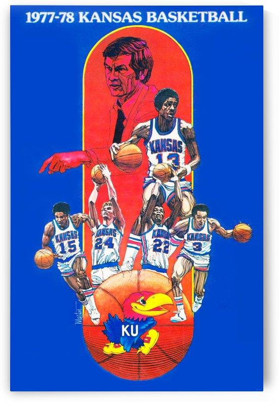 1977 Kansas Jayhawks Basketball Print by Row One Brand