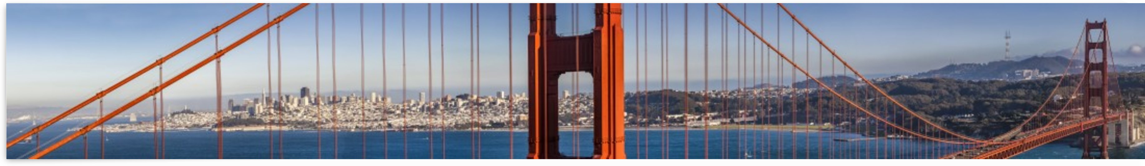 Golden Gate Bridge – Extreme Panoramic View by Melanie Viola