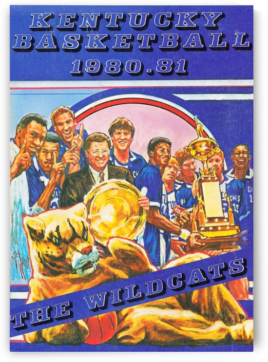 1980 kentucky wildcats basketball poster ted watts sports artist by Row One Brand