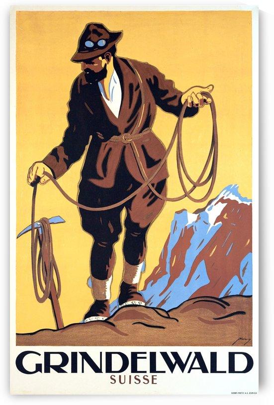 Alpinist on Grindelwald by vintagesupreme