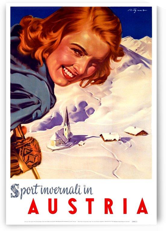 Skiing in Austria by vintagesupreme