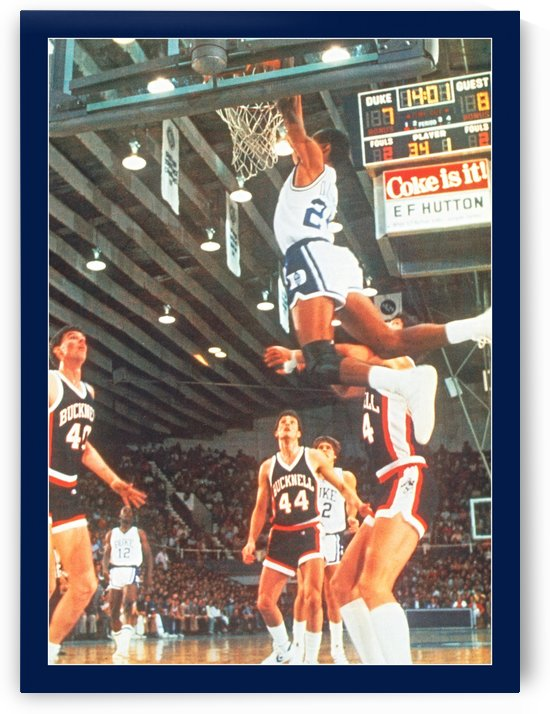 1984 johnny dawkins duke basketball dunk poster (1) by Row One Brand