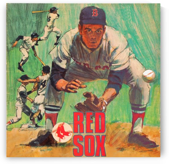 vintage boston red sox best metal sports signs for the garage by Row One Brand