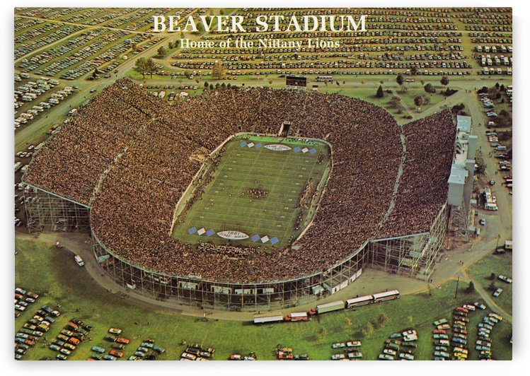 Penn State Football Beaver Stadium Poster 1981 by Row One Brand