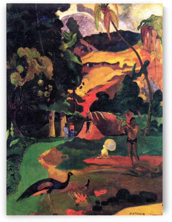 Landscape With Peacocks by Gauguin by Gauguin