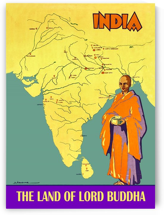 India the Land of Lord Buddha by vintagesupreme
