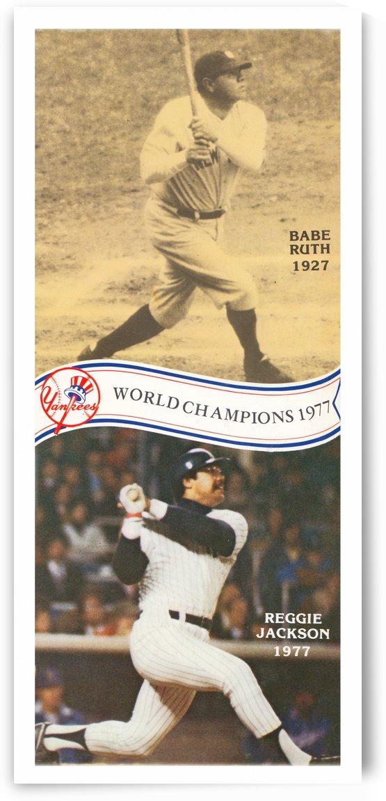 1977 New York Yankees Babe Ruth Reggie Jackson Poster by Row One Brand