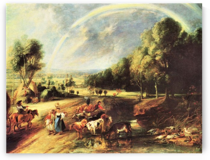 Landscape with Rainbow by Rubens by Rubens