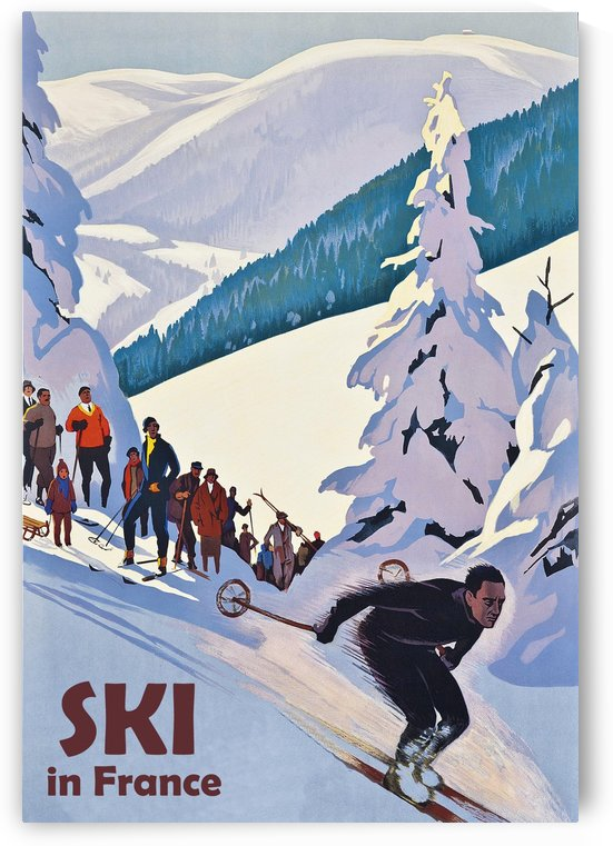 Skiing in France by vintagesupreme